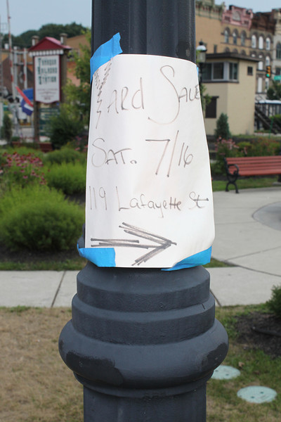 Signs Taped to New Poles, Tamaqua (7-29-2011)