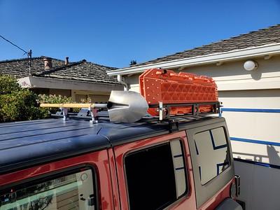 Traction board/shovel mounts