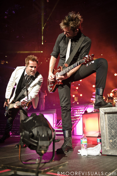 John Cooper and Seth Morrison of Skillet perform on January 14, 2012 at Tampa Bay Times Forum during Winter Jam in Tampa, Florida