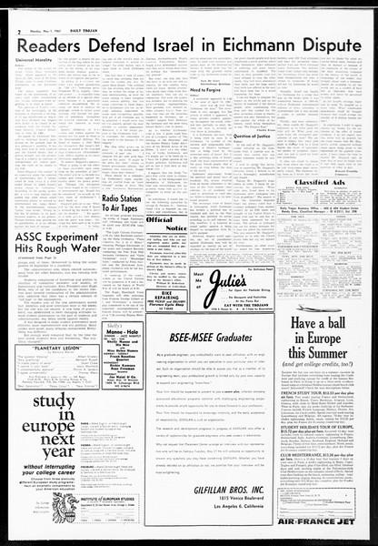 Daily Trojan, Vol. 52, No. 116, May 01, 1961