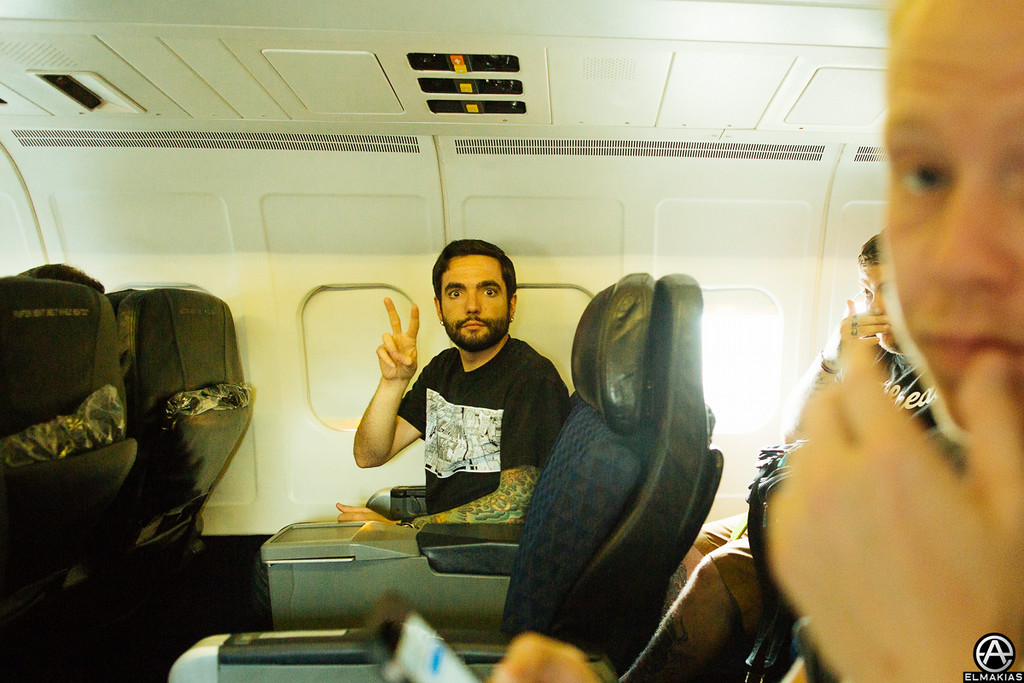 First class staying classy with Jeremy of A Day To Remember by Adam Elmakias
