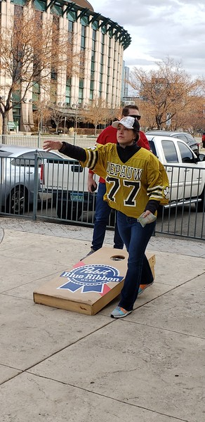 Denver, Colorado - Cornhole Event prior to the game