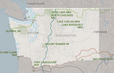 Washington NPS map