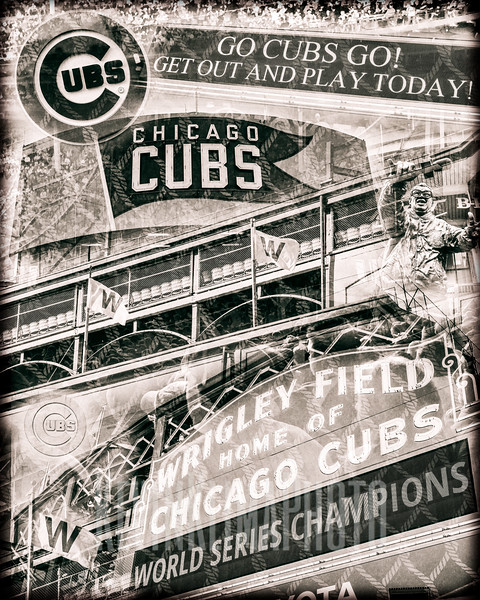 Wrigley Field  - Collage