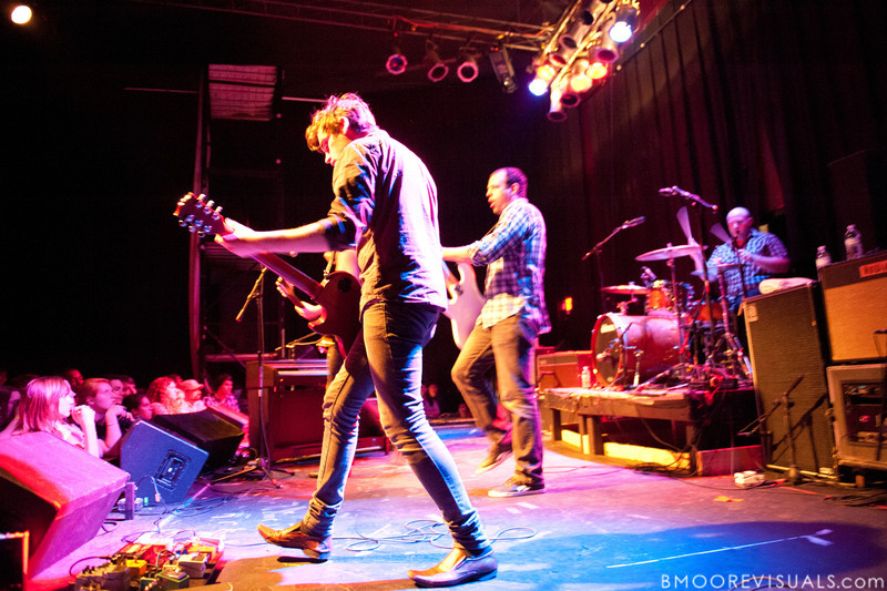 Stephen Laurenson, James Likeness, and Jon Bucklew of Copeland perform during the band's Farewell Tour on April 8, 2010 at State Theatre in St. Petersburg, Florida