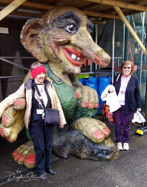Judy & Louise with a friendly troll
