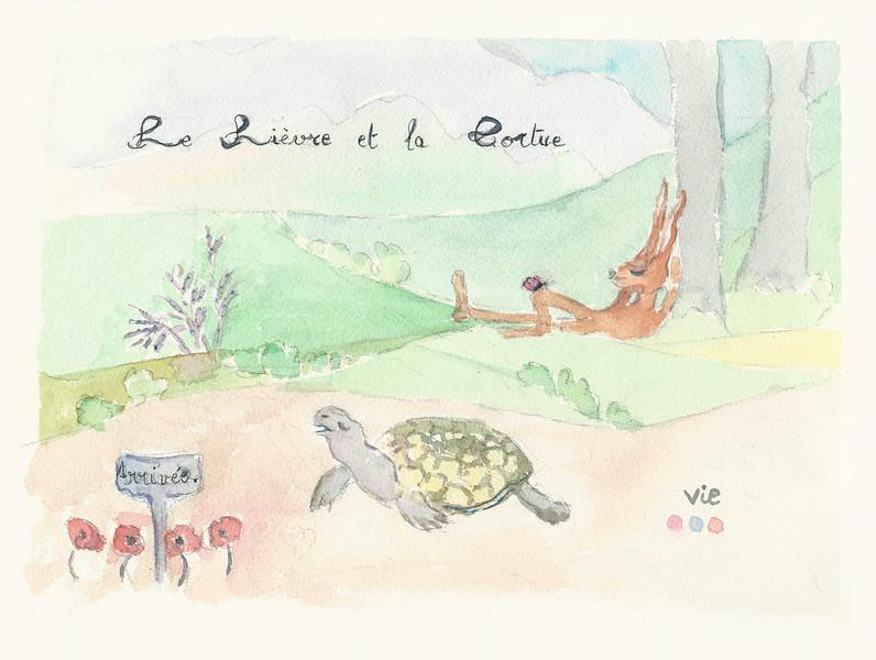 No.121 Le lièvre et la tortue.jpg