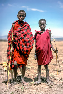 Maasai shepherds