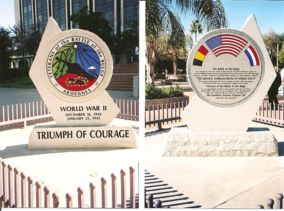 Tucson, Arizona - Presidio Park - Battle of the Bulge Monument