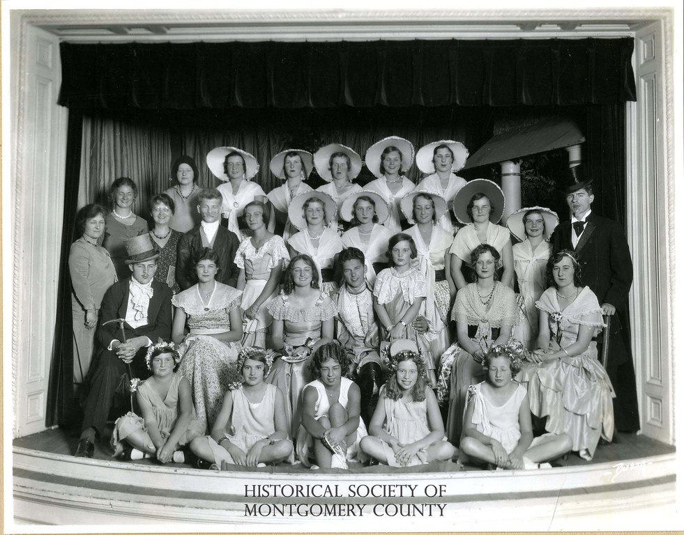 . This photo from the Historical Society of Montgomery County shows Norristown\'s Junior Octave Club at their 1930 production of The Wishing Well.