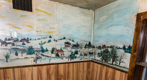 Martha's paintings on the house walls