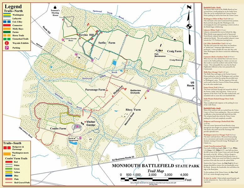 Monmouth Battlefield State Park (Trail Map)