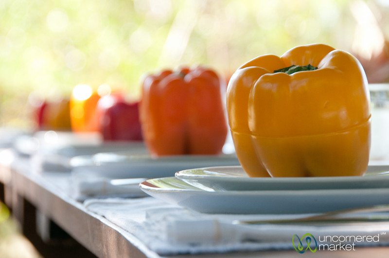Peppers Stuffed with Dzikipic - Yucatan, Mexico