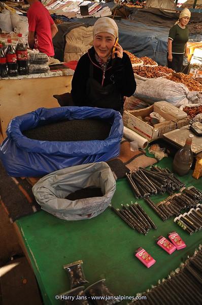 tabacco for sale at market in Bishkek