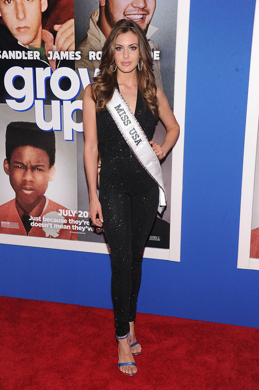 """. Miss USA 2013 Erin Brady attends the \""""Grown Ups 2\"""" New York Premiere at AMC Lincoln Square Theater on July 10, 2013 in New York City.  (Photo by Jamie McCarthy/Getty Images)"""