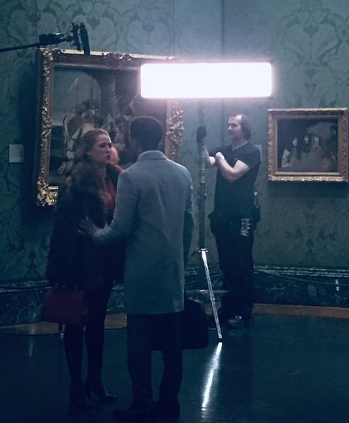 National Gallery filming scene.JPG