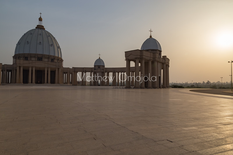 Main and minor domes of the Basilica of Our Lady of Peace Basilique Notre Dame de la Paix Yamoussoukro Ivory Coast Cote d'Ivoire West Africa. The largest church in the world.
