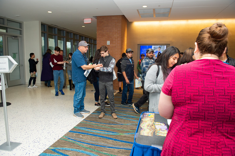 Prospective students and their families are greeted in the University Center.