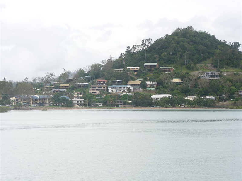 Cannonvale beach and hillside.