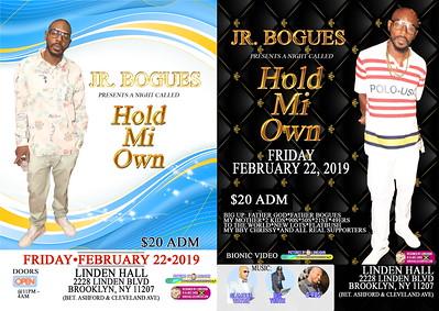 """JR BOGUES """"HOLD MI OWN""""(300)"""