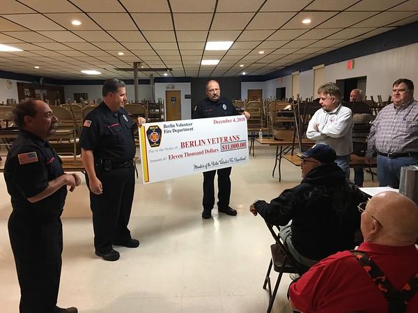 volunteer fire department donation