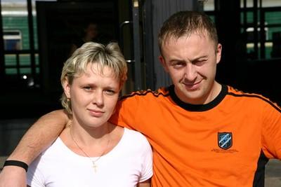 Train crew: Tatiana and Dmitry - Al & Helen Wade