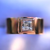 0.40ct Carre Cut Rose Gold Band 32