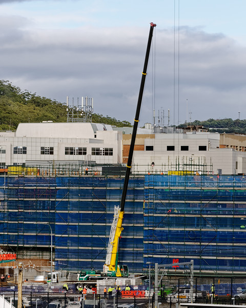 Gosford Hospital building progress H49ed October 2018.