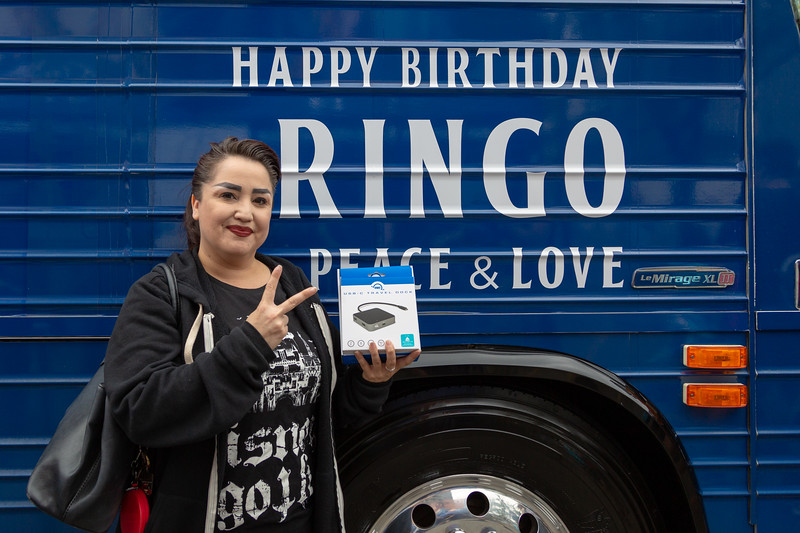 2019_07_07, Birthday, CA, Capitol Records, Los Angeles, Ringo, OWC, Giveaways, Bus, Exterior