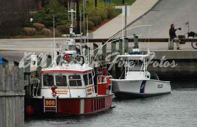 Hyannis Fire Boat waiting at the pier....you never know when it will be needed... .