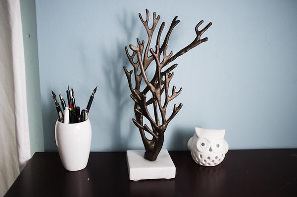 Coral Jewelry Tree