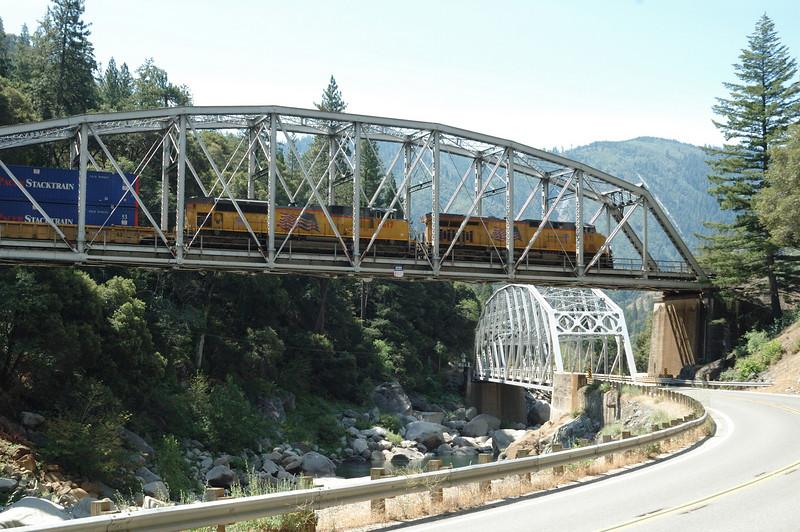Crossing the bridge just upstream from Tobin