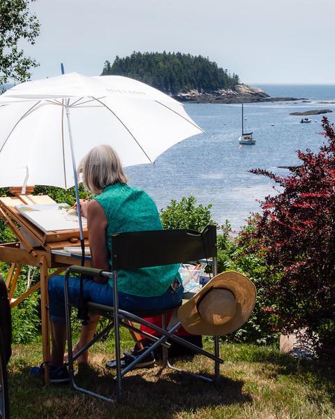 Artist at Work, Georgetown, Maine  (90002)