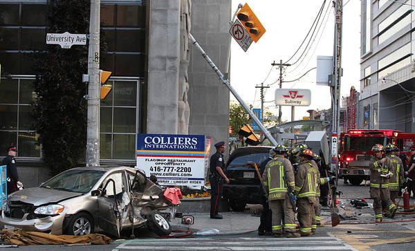 June 22, 2009 - Police Chase Ending in MVC - Queen St W / University Ave