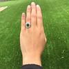 4.38ctw Art Deco Russian Demantoid & Diamond Cluster Ring 7