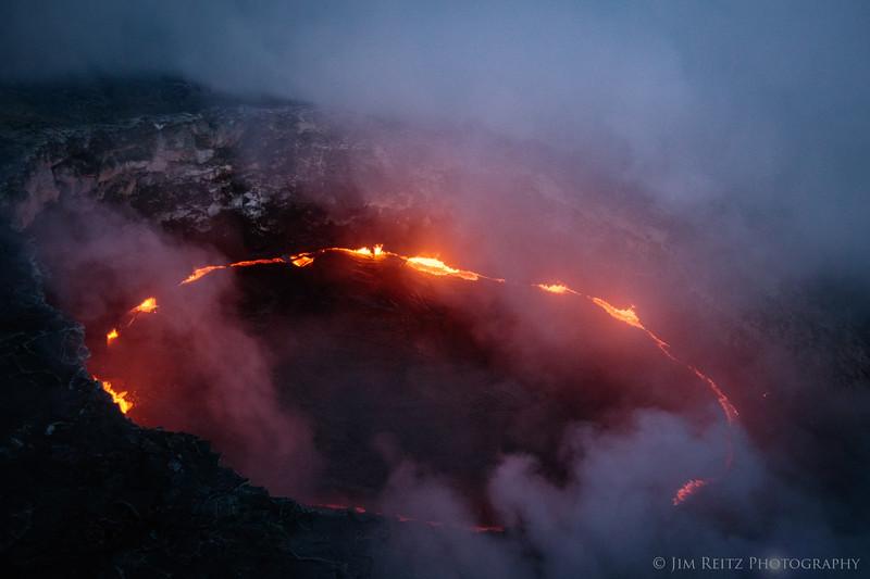Pu'u O'O crater - helicopter flight