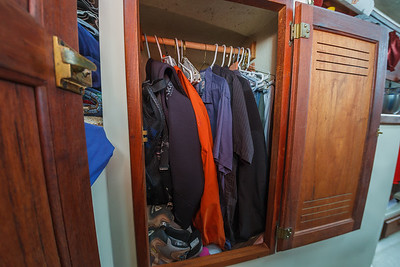 Tiny closet: plenty of room for everything