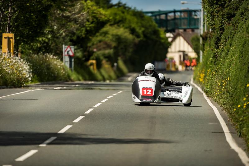 Wayne Lockey & Mark Sayers RealracingF2, 600 Ireson Honda, Isle of Man TT Sidecar 2017 at Nook