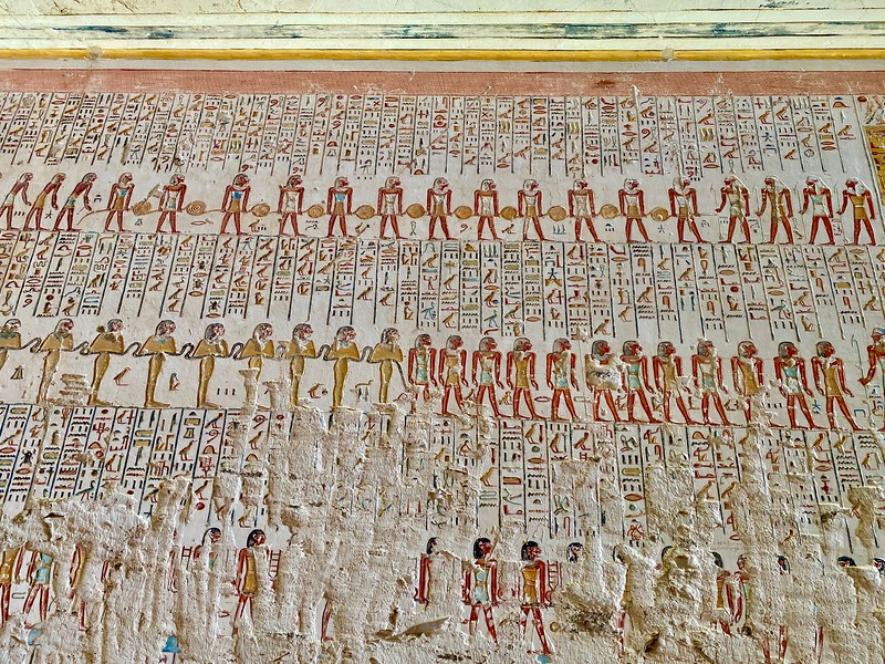 Details on the walls of the tomb of Ramses VI