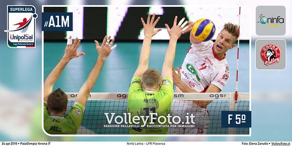 Ninfa Latina - LPR Piacenza   #Finale #PlayOff 5ºPosto #SuperLega