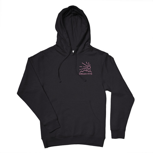 Organ Mountain Outfitters - Outdoor Apparel - Hooded Pullover - Elevation Hoodie - Black Front.jpg