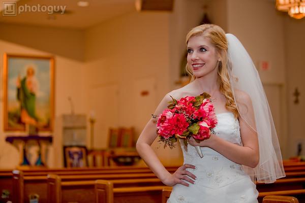 A beautiful bride at church during wedding-3