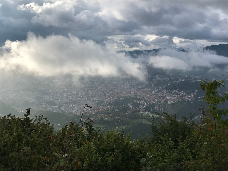 Sarajevo under the clouds
