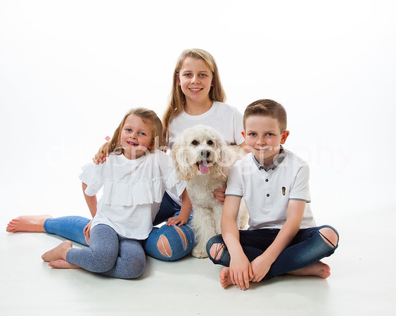 Donaghy Family with pet dog
