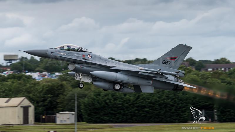 Royal Norwegian Air Force / General Dynamics F-16AM Fighting Falcon / 687