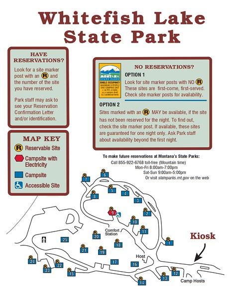 Whitefish Lake State Park (Campground Map)