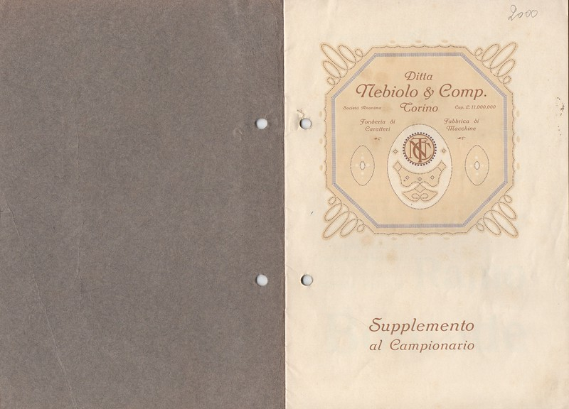 Prospectus of the Nebiolo catalogue. 1920s.
