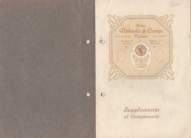 Prospectus of the Nebiolo catalogue. 1920s.