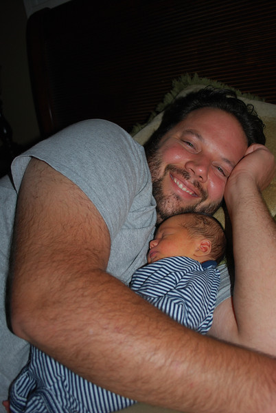 Baby Henry Snuggling with Daddy