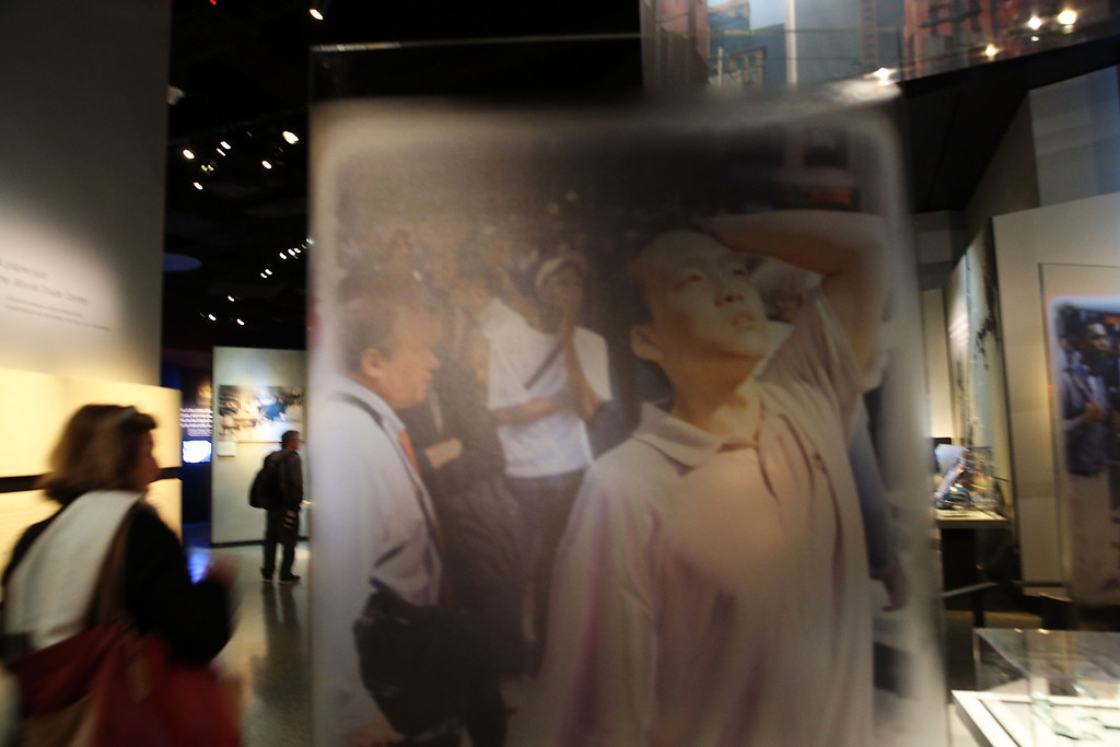 . People tour the National September 11 Memorial Museum on May 14, 2014 in New York City.  (Photo by Spencer Platt/Getty Images)